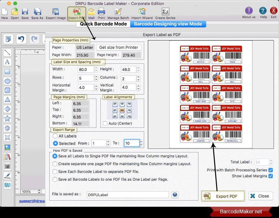 Mac Barcode Maker Software - Corporate Edition Screenshots