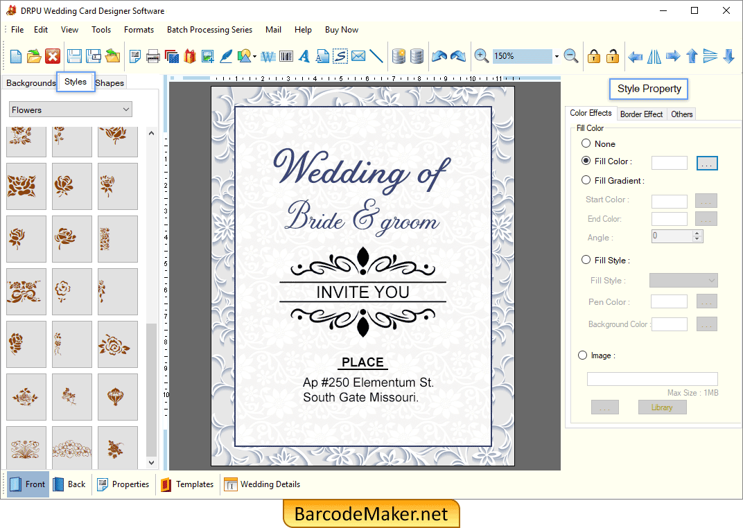 Wedding Card Maker Software Make Invitation Cards To Invite People On Marriage