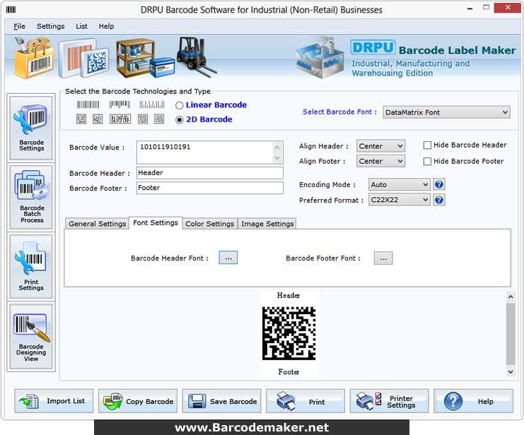 Industrial Barcode Maker screenshot