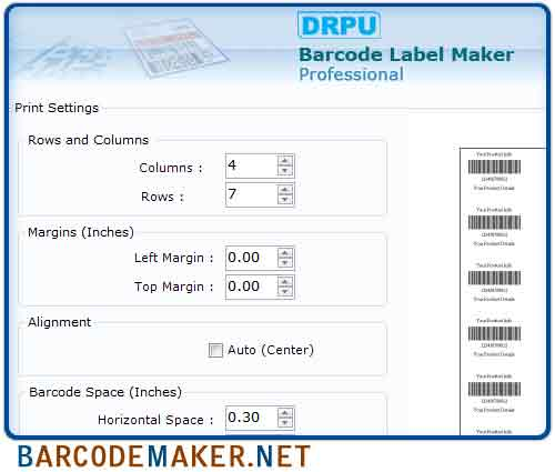 Windows 7 Barcode Maker Professional 7.3.0.1 full