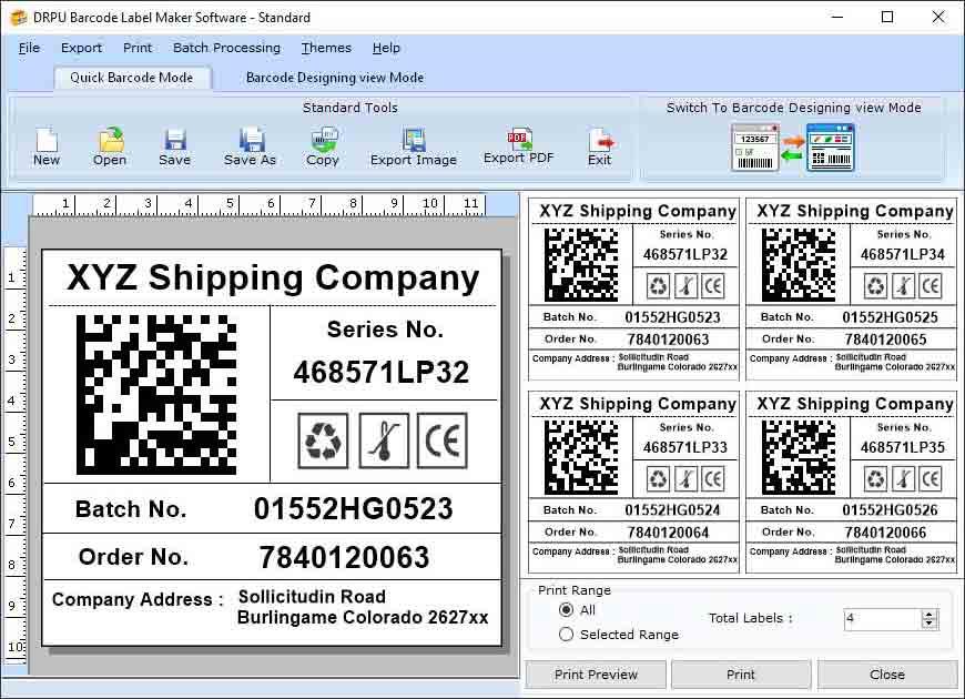 Windows 7 Barcode Maker Software 7.3.0.1 full